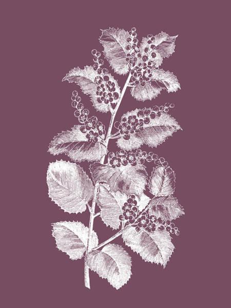Love Mixed Media - Cerasus Purple Flower by Naxart Studio