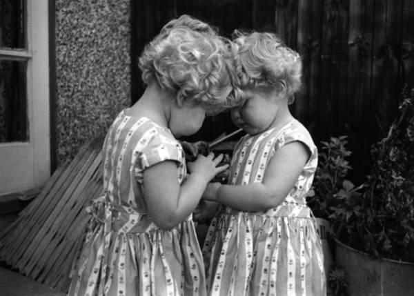 Back To Black Wall Art - Photograph - Champion Twins by Thurston Hopkins
