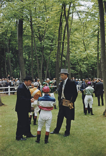 Binoculars Photograph - Chantilly Racecourse by Slim Aarons