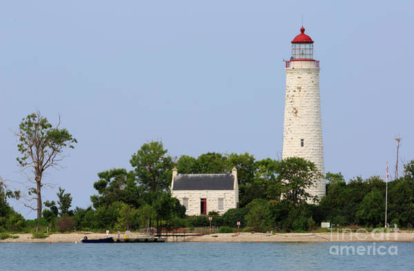 Wall Art - Photograph - Chantry Island Lighthouse And Lightkeepers Cottage On Lake Huron by Louise Heusinkveld