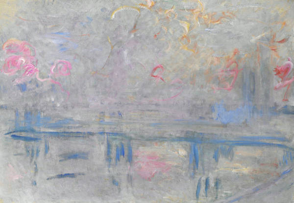 Riverbed Painting - Charing Cross Bridge - Digital Remastered Edition by Claude Monet
