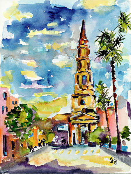 Painting - Charleston South Carolina St Philips Church by Ginette Callaway