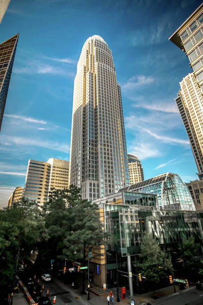 Photograph - Charlotte North Carolina Skyline Cityscape by Alex Grichenko