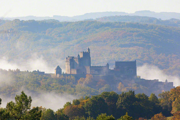 Photograph - Chateau Beynac In The Mist by Mark Shoolery