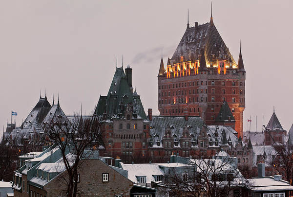 Quebec Photograph - Chateau Frontenac In Winter by Doug Mckinlay