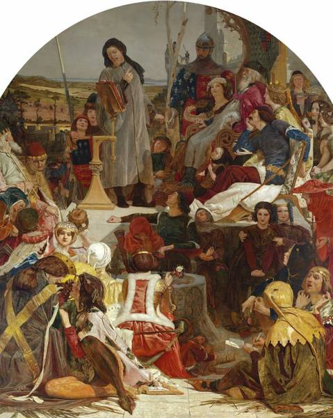 Wall Art - Painting - Chaucer At The Court Of Edward IIi by Ford Madox Brown