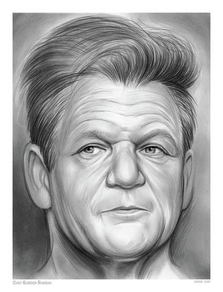 Drawing - Chef Ramsay by Greg Joens