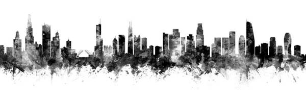 Wall Art - Digital Art - Chicago And Los Angeles Skylines Mashup by Michael Tompsett