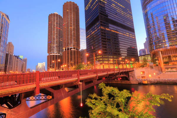 Financial District Photograph - Chicago Downtown In Morning by Pawel.gaul