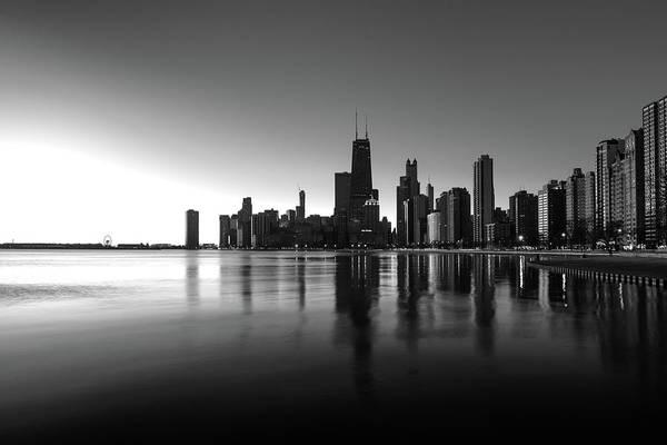 Wall Art - Photograph - Chicago Lakefront Dawn by Steve Gadomski