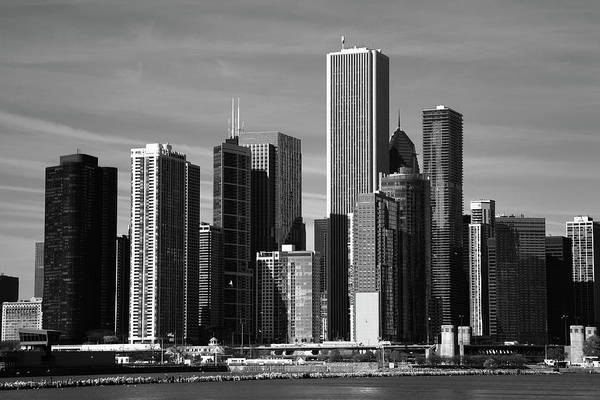Photograph - Chicago Skyline Bw by Frank Romeo