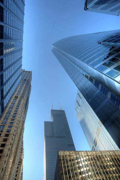 Walking Photograph - Chicago Skyline Skyscraper by Weible1980