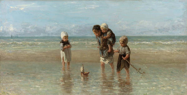 Israel Painting - Children Of The Sea, 1872 by Jozef Israels