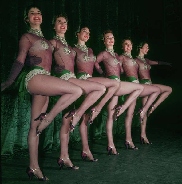 Dancing Photograph - Chorus Girls by Carl Sutton
