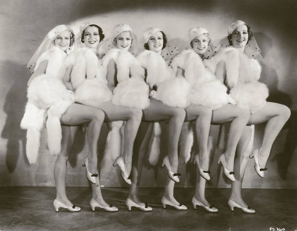 Showgirl Photograph - Chorus Girls by Fpg