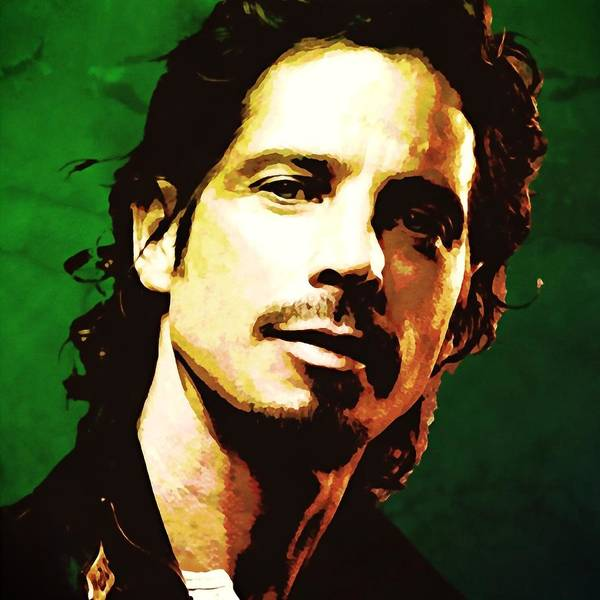 Pearl Jam Painting - Chris Cornell Portrait Painting Dipinto Malerei Cadre Marco by Artista Fratta