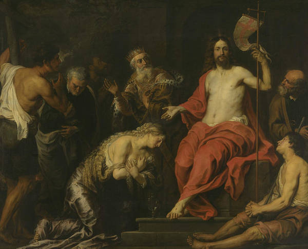 Wall Art - Painting - Christ And The Penitent Sinners by Gerard Seghers