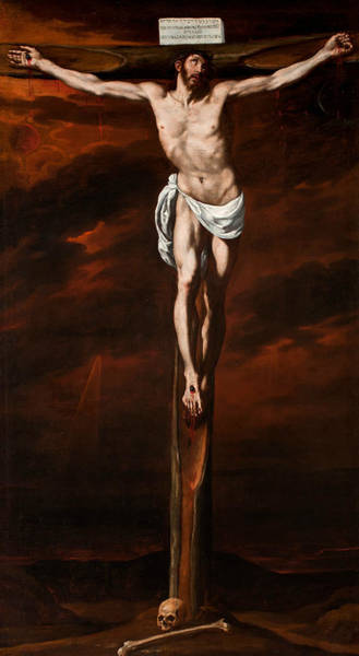 Painting - Christ Crucified by Luis Tristan