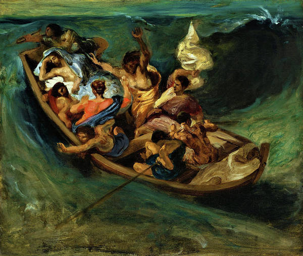 Wall Art - Painting - Christ On The Sea Of Galilee - Digital Remastered Edition by Eugene Delacroix
