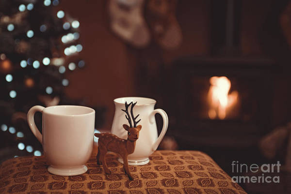 Wall Art - Photograph - Christmas Drinks By Log Fire by Amanda Elwell
