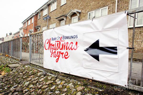 Wall Art - Photograph - Christmas Fayre Sign by Tom Gowanlock