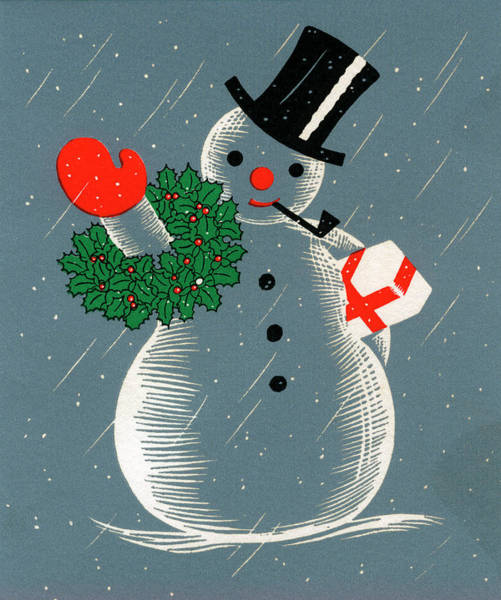 Top Hat Photograph - Christmas Snowman by Graphicaartis