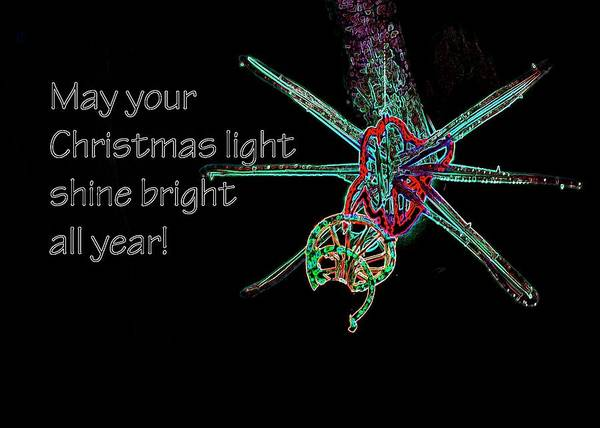 Photograph - Christmas Star Light 26762 Ge by Jerry Sodorff