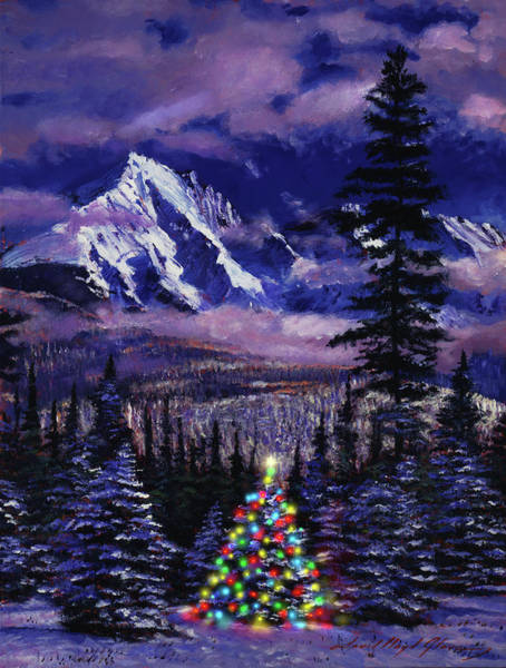 Painting - Christmas Tree Land by David Lloyd Glover