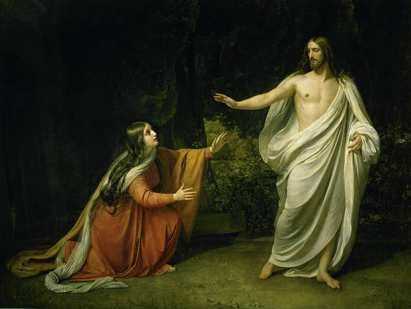 Wall Art - Painting - Christ's Appearance To Mary Magdalene After The Resurrection by Alexander Ivanov