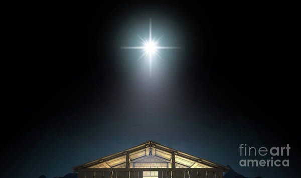 Wall Art - Digital Art - Christ's Birth In A Stable by Allan Swart