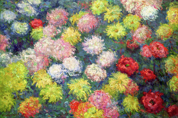 Wall Art - Painting - Chrysanthemums, 1897 by Claude Monet