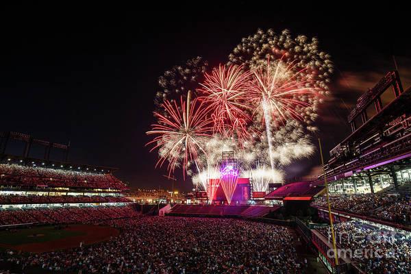 Photograph - Cincinnati Reds V Colorado Rockies by Justin Edmonds