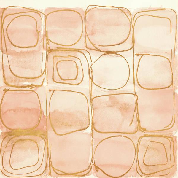 Circular Painting - Circular Squares Of Peach by Lanie Loreth