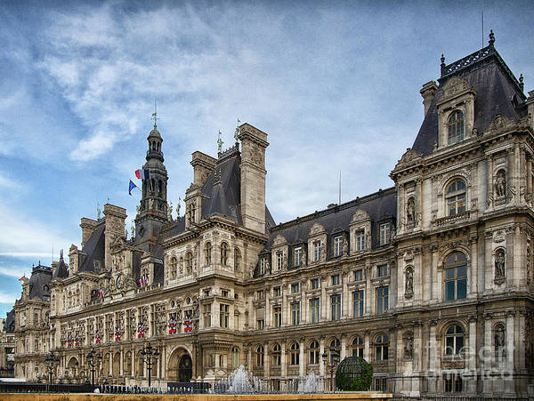Wall Art - Photograph - City Hall Hotel De Ville Paris France by Wayne Moran