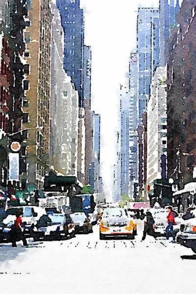 Wall Art - Painting - City Life by Emily Navas