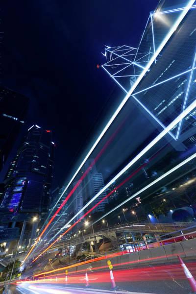 Rush Hour Photograph - City Night Scene by Vii-photo