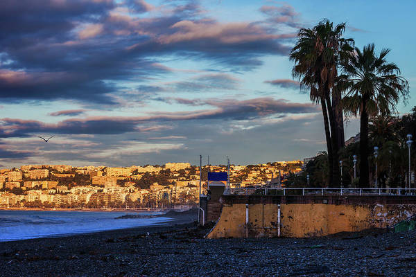 Wall Art - Photograph - City Of Nice In France At Sunrise by Artur Bogacki