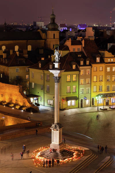 Wall Art - Photograph - City Of Warsaw In Poland At Night by Artur Bogacki