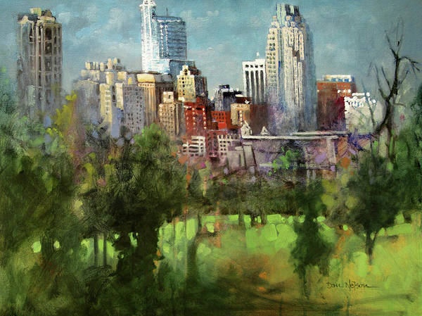 Wall Art - Painting - City Set On A Hill by Dan Nelson