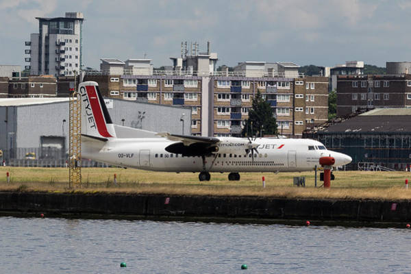 Wall Art - Photograph - Cityjet Fokker 50 by David Pyatt