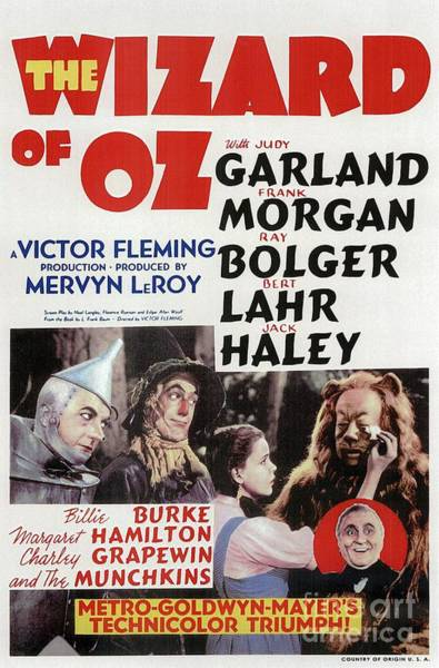 Wall Art - Painting - Classic Movie Poster - Wizard Of Oz by Esoterica Art Agency