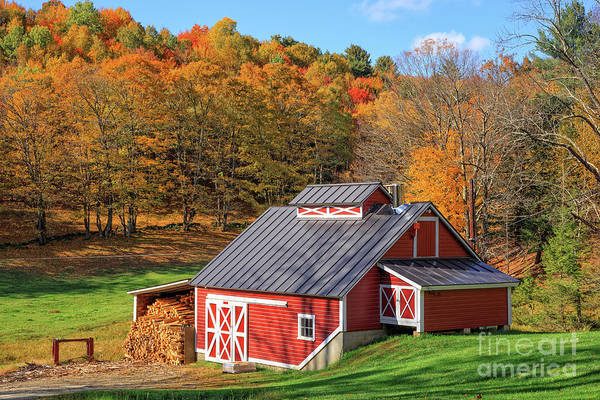 Wall Art - Photograph - Classic Vermont Maple Sugar Shack by Edward Fielding