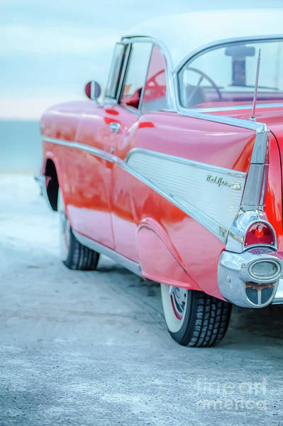 Photograph - Classic Vintage Red Chevy Bel Air  Wonka by Edward Fielding