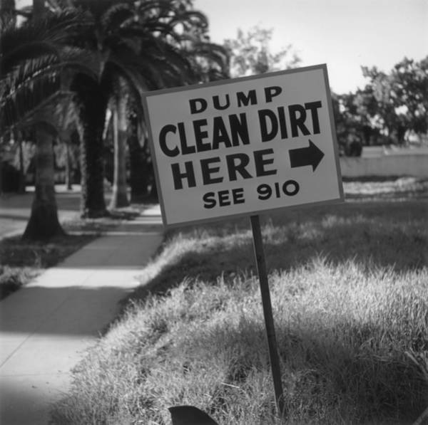 Humor Photograph - Clean Dirt by Slim Aarons
