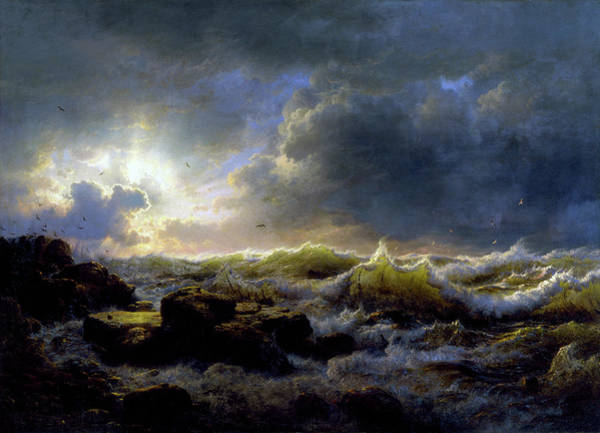 Painting - Clearing Up, Coast Of Sicily by Andreas Achenbach