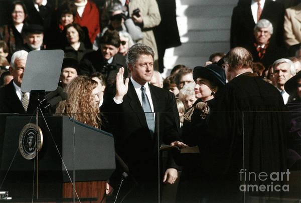 Wall Art - Photograph - Clinton Inauguration, 1993 by Granger