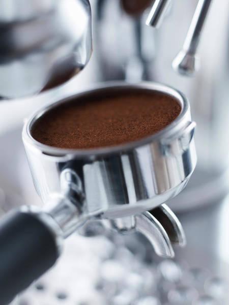 Ground Photograph - Close Up Of Ground Espresso In by Adam Gault