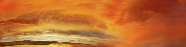 Wall Art - Photograph - Clouds On Sky - Sunset Panorama by Konradlew