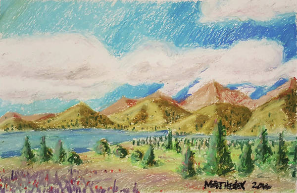 Pastel - Clouds Over Colorado by Vincent Matheney