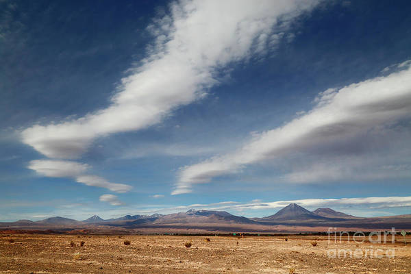 Photograph - Clouds Over The Atacama Desert Chile by James Brunker